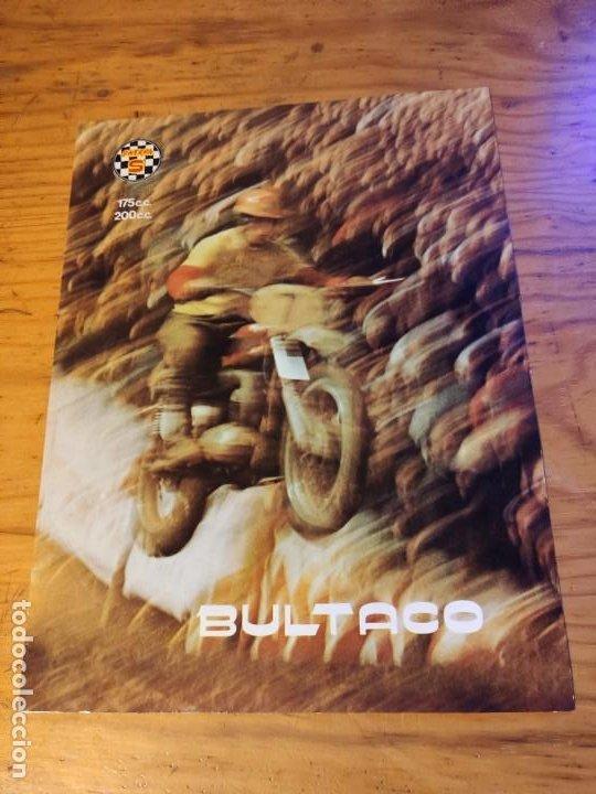 DÍPTICO BULTACO SHERPA S. (Coches y Motocicletas Antiguas y Clásicas - Catálogos, Publicidad y Libros de mecánica)