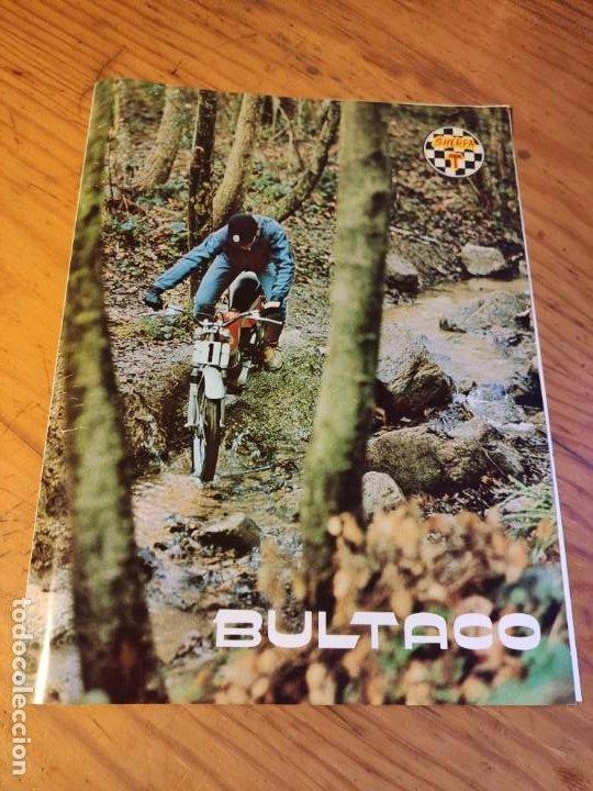 DÍPTICO BULTACO SHERPA T. (Coches y Motocicletas Antiguas y Clásicas - Catálogos, Publicidad y Libros de mecánica)