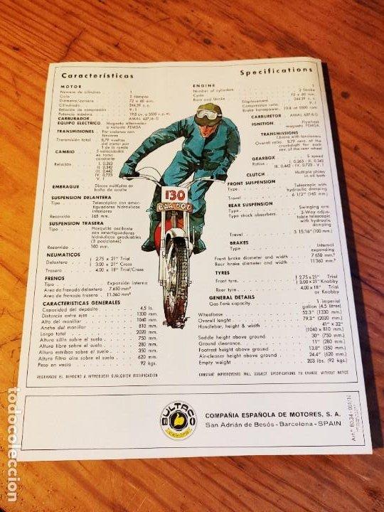 Coches y Motocicletas: Díptico Bultaco Sherpa T. - Foto 3 - 194334992