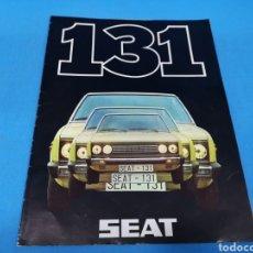 Coches y Motocicletas: CATÁLOGO PUBLICITARIO DE SEAT 131 AÑO 1976. Lote 194393417