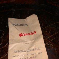Coches y Motocicletas: ACCESORIOS BISCUTER. Lote 194405705