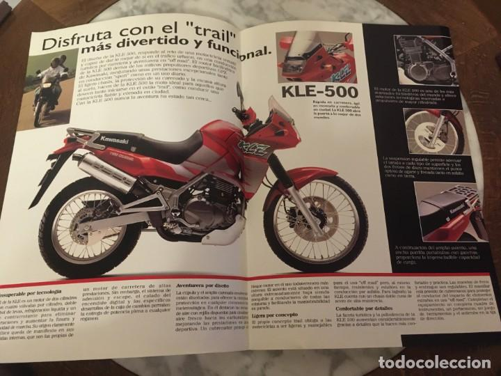 Coches y Motocicletas: Folleto kawasaki KLE-500 - Foto 2 - 194515766