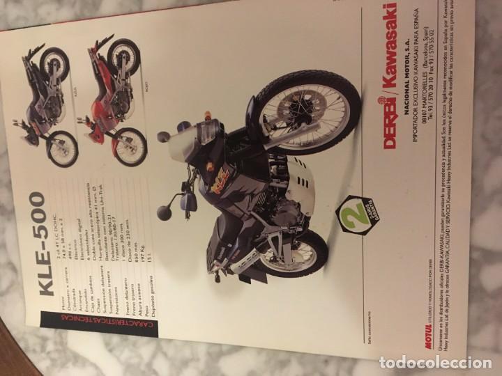 Coches y Motocicletas: Folleto kawasaki KLE-500 - Foto 3 - 194515766