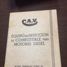 Coches y Motocicletas: EQUIPO DE INYECCIÓN COMBUSTIBLE PARA MOTORES DIÉSEL CAV. Lote 194555056