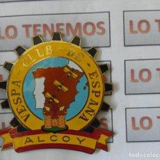 Voitures et Motocyclettes: CHAPA DE VESPA CLUB DE ESPAÑA ALCOY . Lote 194557528