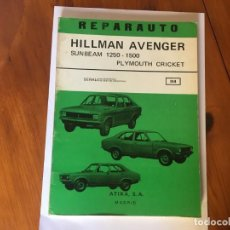 Coches y Motocicletas: LIBRO REPARAUTO MANUAL Nº 114 HILMAN AVENGER , SUNBEAM 1250-1500. Lote 194596428