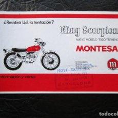 Coches y Motocicletas: PROSPECTO PUBLICIDAD ORIGINAL MONTESA KING SCORPION. Lote 194603593