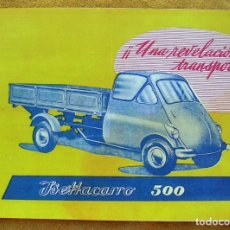 Coches y Motocicletas: CATALOGO ISETTACARRO 500. ORIGINAL. PERFECTO ESTADO. ISO MOTOR ITALIA.. Lote 194608057