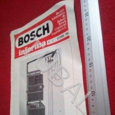 Coches y Motocicletas: TUBAL BOSCH INFORMA REVISTA 17 EXPEDICION VESPA RAID DESIERTO 81 1981 U6. Lote 194609012