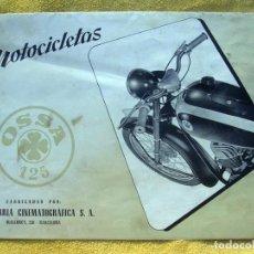 Coches y Motocicletas: MOTOCICLETAS OSSA 125. CATALOGO POSTER DESPLEGABLE. . Lote 194609166