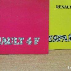Coches y Motocicletas: RENAULT 4 F MANUAL DEL USUARIO Y LIBRO RENAULT ESPAÑA DE 1983 MUY BUEN ESTADO. Lote 194635697