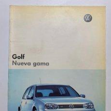 Coches y Motocicletas: CATALOGO FOLLETO PUBLICIDAD ORIGINAL VOLKSWAGEN GOLF NUEVA GAMA DE 2003. Lote 194684522