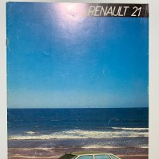 Coches y Motocicletas: CATALOGO FOLLETO PUBLICIDAD ORIGINAL RENAULT 21 DE 1986. Lote 194684775