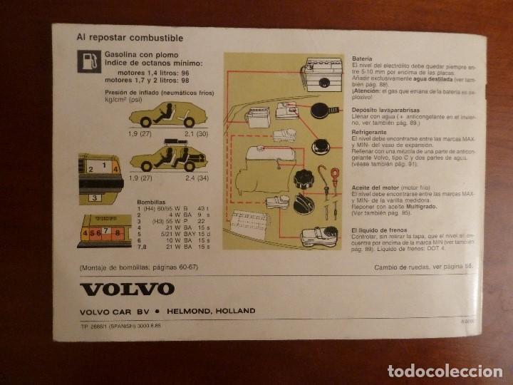 Coches y Motocicletas: MANUAL/LIBRO DE INSTRUCCIONES AUTOMOVIL-VOLVO 340/360- AÑO 1986 - Foto 2 - 194906338