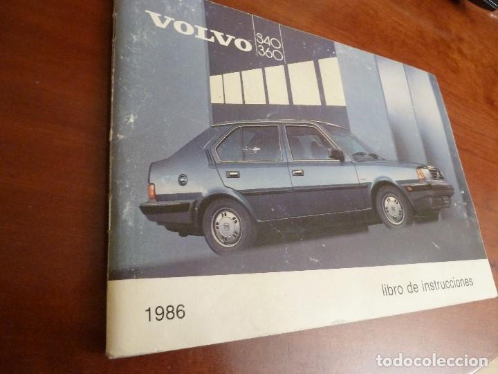 Coches y Motocicletas: MANUAL/LIBRO DE INSTRUCCIONES AUTOMOVIL-VOLVO 340/360- AÑO 1986 - Foto 3 - 194906338
