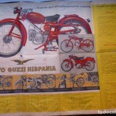 Coches y Motocicletas: MOTO GUZZI HISPANIA MODELO 65 Y MODELO Z, ANTIGUO DESPLEGABLE - AÑOS 1950-60, VER FOTOS ADICIONALES. Lote 194944998