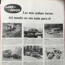 Coches y Motocicletas: LAND ROVER - ANUNCIO PÁGINA DE REVISTA - AÑO 1960. Lote 194952015