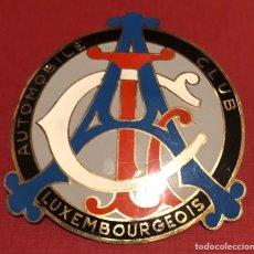 Coches y Motocicletas: PUBLICIDAD; COCHE. PLACA ESMALTADA AUTOMOBILE CLUB LUXEMBOURGEOIS.. Lote 194953192