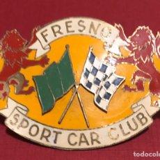 Coches y Motocicletas: PUBLICIDAD; COCHE. PLACA ESMALTADA, FRESNO SPORT CAR CLUB.. Lote 194954065