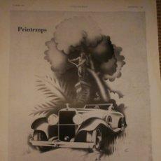Coches y Motocicletas: PUBLICIDAD DE HISPANO SUIZA. L'ILLUSTRATION. HOJA SUENTA. Lote 194968101