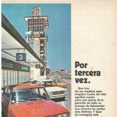 Coches y Motocicletas: ANUNCIO SEAT COCHE DEL AÑO. Lote 194973260