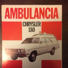 Coches y Motocicletas: CATALOGO AUTOMÓVIL CHRYSLER 180 AMBULANCIA. Lote 194980931