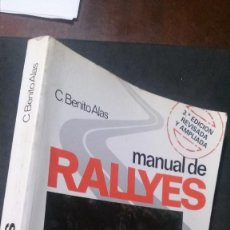Voitures et Motocyclettes: MANUAL DE RALLYES-C. BENITO ALAS-1984. Lote 195037262