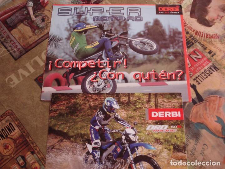 DOS FOLLETOS DE PROPAGANDA DERBI (Coches y Motocicletas Antiguas y Clásicas - Catálogos, Publicidad y Libros de mecánica)