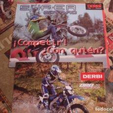 Coches y Motocicletas: DOS FOLLETOS DE PROPAGANDA DERBI. Lote 195042512
