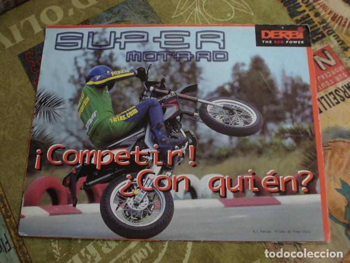 Coches y Motocicletas: DOS FOLLETOS DE PROPAGANDA DERBI - Foto 2 - 195042512