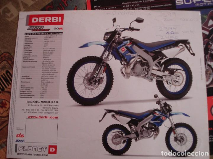 Coches y Motocicletas: DOS FOLLETOS DE PROPAGANDA DERBI - Foto 8 - 195042512