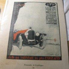 Coches y Motocicletas: ANTIGUO PEQUEÑO CARTEL AUTOMOVIL DFP DORIOT FLANDRIT PARANT , EN CARTON 25 / 16 CM. Lote 195057902