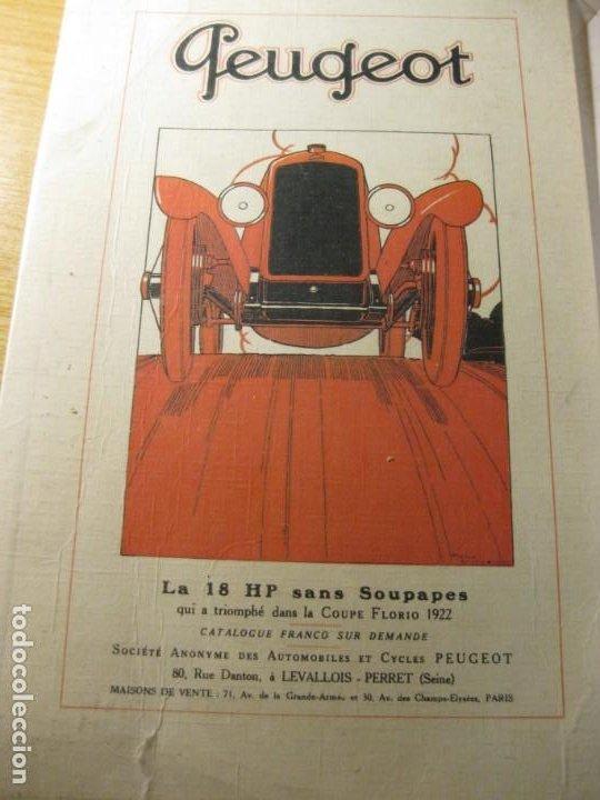 ANTIGUO PEQUEÑO CARTEL AUTOMOVIL PEUGEOT 24 / 16 CM EN CARTON (Coches y Motocicletas Antiguas y Clásicas - Catálogos, Publicidad y Libros de mecánica)