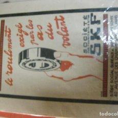Coches y Motocicletas: ANTIGUO CARTEL PUBLICIDAD SKF COJINETES PARA COCHE AUTOMOVIL 24 / 16 CM . CARTON. Lote 195058053