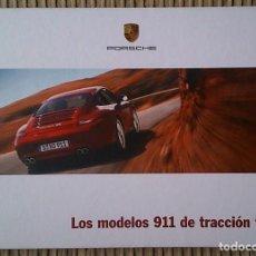 Coches y Motocicletas: CATÁLOGO PORSCHE 911 MODELOS DE TRACCION TOTAL. NOVIEMBRE 2011. EN ESPAÑOL. Lote 245165910