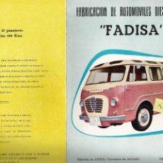 Coches y Motocicletas: FADISA ROMEO 1959 FURGONETA ALFA ROMEO FABRICACIÓN DE AUTOMÓVILES DIESEL FOLLETO 4 PÁGINAS 17X23CM . Lote 195089925