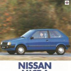 Coches y Motocicletas: NISSAN MICRA GL, DX MOTOR MA10 1983 FOLLETO 4 PÁGINAS EN ESAPÑOL. Lote 195094167