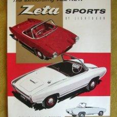 Coches y Motocicletas: ANTIGUO CATALOGO FOLLETO PUBLICIDAD MICROCAR ZETA SPORTS BY LIGHTBURN.. Lote 195113523