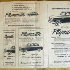 Coches y Motocicletas: ANTIGUA PUBLICIDAD COCHE CLASICO PLYMOUTH. . Lote 195113995