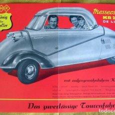 Coches y Motocicletas: ANTIGUO CATALOGO FOLLETO PUBLICIDAD MICROCAR MEDDERCHMITT KR200 DE LUXE.. Lote 195114371