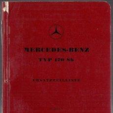 Coches y Motocicletas: MERCEDES BENZ : TYP 170 SB - ERSATZTEILLISTE (AUSGABE A) - MANUAL PIEZAS REPUESTO ORIGINAL ALEMANIA. Lote 195162317