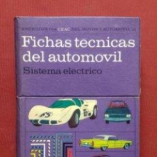 Coches y Motocicletas: FICHAS TÉCNICAS DEL AUTOMÓVIL - SISTEMA ELÉCTRICO. Lote 195168755