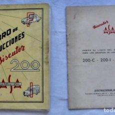 Coches y Motocicletas: LIBRO DE INSTRUCCIONES DEL BISCUTER 200 (1958). Lote 195198350