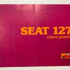 Coches y Motocicletas: FOLLETO CATALOGO PUBLICIDAD ORIGINAL SEAT 127 CINCO PUERTAS DE 1980. Lote 195217470