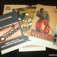 Coches y Motocicletas: PUBLICIDAD CITRÖEN. 12 REPRODUCCIONES DE CARTELES CLÁSICOS EN LÁMINAS ENMARCABLES DE 33 X 21 CMS.. Lote 195224136