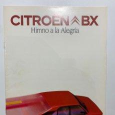 Coches y Motocicletas: CATÁLOGO FOLLETO DE PUBLICIDAD ORIGINAL CITRÖEN BX HIMNO A LA ALEGRÍA DE 1983. Lote 195234931