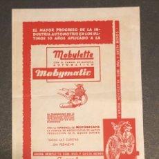 Coches y Motocicletas: PUBLICIDAD; FOLLETO PUBLICITARIO DE MOTO MOBYLETTE. Lote 195235041