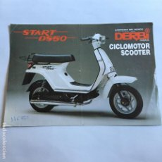 Coches y Motocicletas: FOLLETO CATALOGO PUBLICIDAD ORIGINAL DERBI START DS50 CICLOMOTOR SCOOTER. Lote 195256190