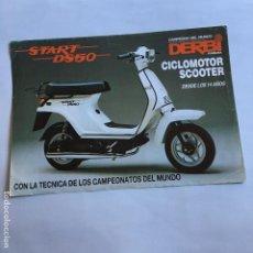 Coches y Motocicletas: FOLLETO CATALOGO PUBLICIDAD ORIGINAL DERBI START DS50 CICLOMOTOR SCOOTER. Lote 195256280