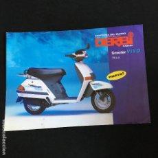 Coches y Motocicletas: FOLLETO CATALOGO PUBLICIDAD ORIGINAL DERBI SCOOTER VIVO 75 C.C.. Lote 195260346